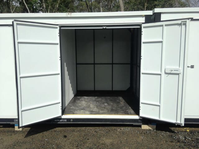 third of a storage container with two doors