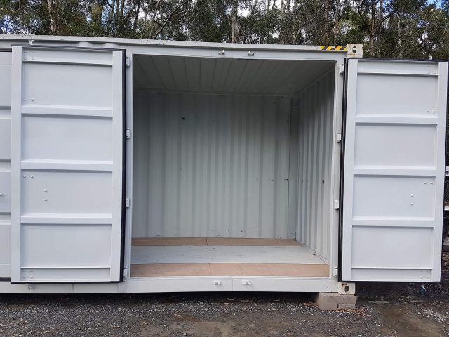 Half container self storage